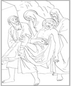 Fourteenth Station of the Cross Coloring Page
