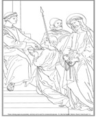 First Station of the Cross Coloring Page
