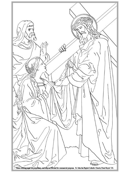 The stations of the cross coloring pages ~ St. John the Baptist Roman Catholic Church | Front Royal ...