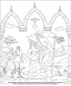 Baptism of Our Lord Coloring Page