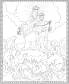 Our Lady rescues children in Purgatory Coloring Page
