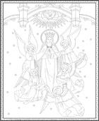 Crowning of Mary Coloring Page