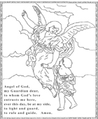 Guardian Angel Coloring Page