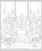 Institution of the Holy Eucharist Coloring Page