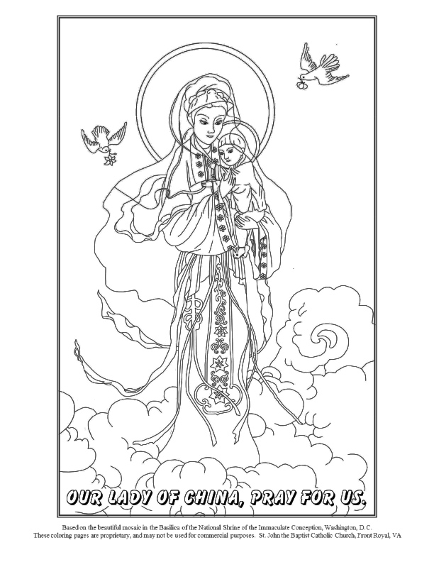 Catholic Saint Coloring Pages | 792x612