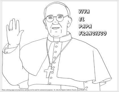 Pope Francis Coloring Page For