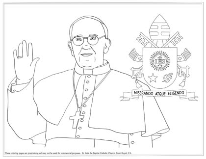 pope francis coloring page - Coloring Pages Catholic Sacraments