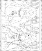 Sacred Heart and Immaculate Heart Coloring Page