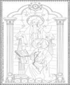 St. Catherine LaBoure Coloring Page