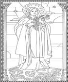 St. Theresa Coloring Page