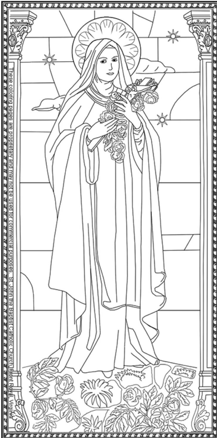 Presentation of Jesus in Temple coloring page | Free Printable ... | 1482x735