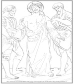 Tenth Station of the Cross Coloring Page