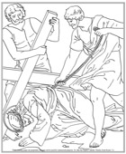 Ninth Station of the Cross Coloring Page